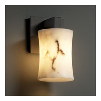 LumenAria 1 Light 5 inch Matte Black Wall Sconce Wall Light in Hourglass