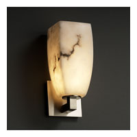 LumenAria 1 Light 5 inch Brushed Nickel Wall Sconce Wall Light in Tall Tapered Square