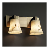 Justice Design LumenAria Modular 2-Light Bath Bar in Antique Brass FAL-8922-20-ABRS