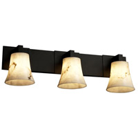 Justice Design LumenAria Modular 3-Light Bath Bar in Matte Black FAL-8923-20-MBLK