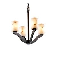 Justice Design LumenAria Bend 4-Light Chandelier in Dark Bronze FAL-8970-10-DBRZ