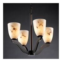 Justice Design LumenAria Bend 4-Light Chandelier in Dark Bronze FAL-8970-18-DBRZ