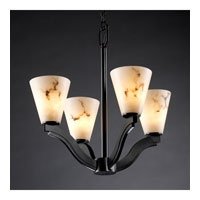 Justice Design LumenAria Bend 4-Light Chandelier in Matte Black FAL-8970-50-MBLK