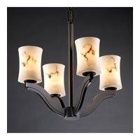 Justice Design LumenAria Bend 4-Light Chandelier in Dark Bronze FAL-8970-60-DBRZ
