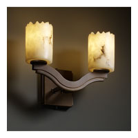 Justice Design LumenAria Bend 2-Light Wall Sconce (Style 2) in Dark Bronze FAL-8975-12-DBRZ