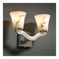 Justice Design LumenAria Bend 2-Light Wall Sconce (Style 2) in Brushed Nickel FAL-8975-20-NCKL