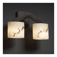 Justice Design LumenAria Bend 2-Light Wall Sconce (Style 2) in Dark Bronze FAL-8975-30-DBRZ
