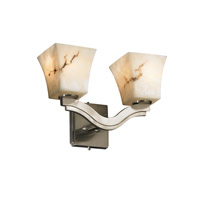 Justice Design LumenAria Bend 2-Light Wall Sconce (Style 2) in Brushed Nickel FAL-8975-40-NCKL