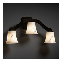 Justice Design LumenAria Bend 3-Light Wall Sconce (Style 2) in Dark Bronze FAL-8976-20-DBRZ