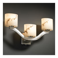 Justice Design LumenAria Bend 3-Light Wall Sconce (Style 2) in Brushed Nickel FAL-8976-30-NCKL