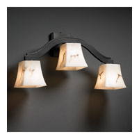 Justice Design LumenAria Bend 3-Light Wall Sconce (Style 2) in Matte Black FAL-8976-40-MBLK