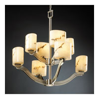 Justice Design LumenAria Bend 8-Light 2-Tier Chandelier in Brushed Nickel FAL-8978-30-NCKL