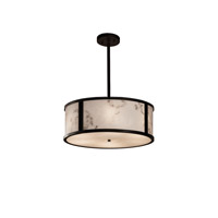 Justice Design Group LumenAria LED Drum Pendant in Dark Bronze FAL-9541-DBRZ-LED3-3000