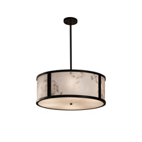 Justice Design Group LumenAria LED Drum Pendant in Dark Bronze FAL-9542-DBRZ-LED5-5000