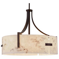 LumenAria Lira 6 Light 25 inch Dark Bronze Drum Pendant Ceiling Light