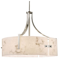 LumenAria Lira 6 Light 25 inch Brushed Nickel Drum Pendant Ceiling Light
