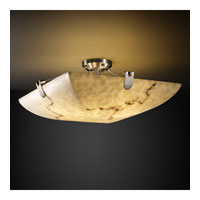LumenAria 8 Light 51 inch Brushed Nickel Semi-Flush Bowl Ceiling Light in Square Bowl