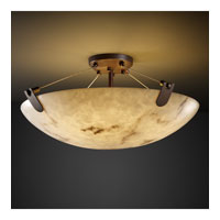 LumenAria 8 Light 21 inch Dark Bronze Semi-Flush Bowl Ceiling Light in Round Bowl
