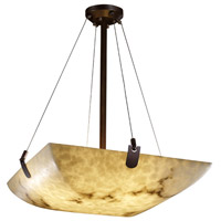 LumenAria 6 Light 27 inch Dark Bronze Pendant Bowl Ceiling Light in Square Bowl