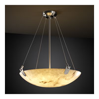 LumenAria 6 Light 27 inch Brushed Nickel Pendant Bowl Ceiling Light in Round Bowl