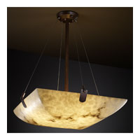 LumenAria 8 Light 39 inch Dark Bronze Pendant Bowl Ceiling Light in Square Bowl