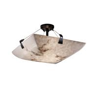Justice Design FAL-9632-35-NCKL-LED5-5000 LumenAria LED 27 inch Brushed Nickel Semi-Flush Ceiling Light in 5000 Lm LED, Round Bowl