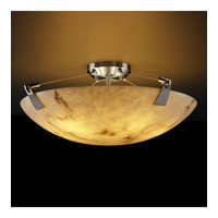 LumenAria 8 Light 21 inch Brushed Nickel Semi-Flush Bowl Ceiling Light in Round Bowl