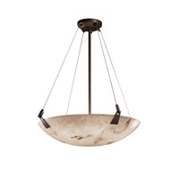 LumenAria 6 Light 21 inch Dark Bronze Pendant Bowl Ceiling Light in Round Bowl
