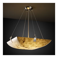 LumenAria 8 Light 39 inch Brushed Nickel Pendant Bowl Ceiling Light in Square Bowl