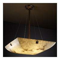 LumenAria 8 Light 39 inch Dark Bronze Pendant Bowl Ceiling Light in Concentric Squares, Square Bowl