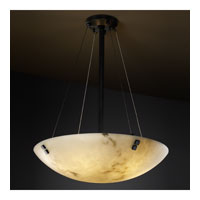 LumenAria 8 Light Matte Black Pendant Bowl Ceiling Light in Pair of Squares, Round Bowl