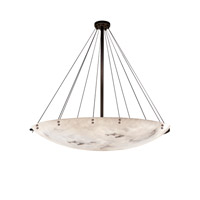 LumenAria LED 72 inch Dark Bronze Pendant Bowl with Finial Ceiling Light in 12000 Lm 12 Light LED, Pair of Cylinders