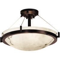 Justice Design FAL-9681-35-DBRZ-LED3-3000 Lumenaria LED 18 inch Dark Bronze Semi-Flush Ceiling Light in 3000 Lm LED