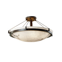 LumenAria 6 Light 21 inch Dark Bronze Semi-Flush Bowl Ceiling Light