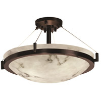 Dark Bronze Metal LumenAria Semi-Flush Mounts