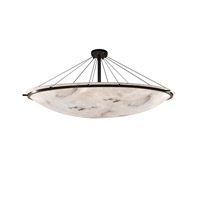 Justice Design Group LumenAria LED Semi-Flush Bowl with Ring in Dark Bronze FAL-9688-35-DBRZ-LED12-12000