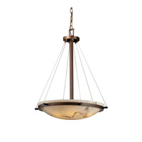 LumenAria 6 Light Dark Bronze Pendant Bowl Ceiling Light