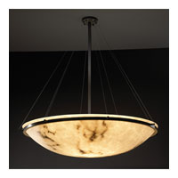 LumenAria 8 Light Matte Black Pendant Bowl Ceiling Light