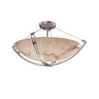 Justice Design FAL-9712-35-NCKL LumenAria 6 Light 21 inch Brushed Nickel Semi-Flush Bowl Ceiling Light in Round Bowl photo thumbnail