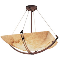 LumenAria 8 Light 42 inch Dark Bronze Pendant Bowl Ceiling Light in Square Bowl