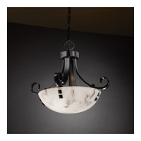 Justice Design FAL-9740-35-MBLK-F3 Signature 2 Light 19 inch Matte Black Pendant Ceiling Light in Pair of Square with Points, Round Bowl, Incandescent FAL-9740-35-MBLK-F3_2.jpg thumb