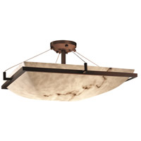 Justice Design FAL-9787-25-DBRZ-LED6-6000 LumenAria LED 53 inch Dark Bronze Semi-Flush Ceiling Light Bowl