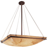 LumenAria 8 Light 40 inch Dark Bronze Pendant Bowl Ceiling Light