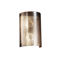 Justice Design FSN-5542-MROR-DBRZ Fusion 2 Light 8 inch Dark Bronze Wall Sconce Wall Light in Mercury Glass
