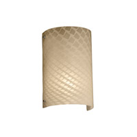 Fusion 2 Light 8 inch Brushed Nickel Wall Sconce Wall Light in Weave