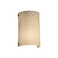 Fusion 1 Light 13 inch Matte Black Outdoor Wall Sconce in Weave