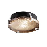 Justice Design FSN-5545-WEVE-DBRZ-LED2-2000 Fusion LED 13 inch Dark Bronze Flush Mount Ceiling Light in Weave, 2000 Lm LED