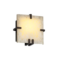 Justice Design Fusion Clips Square Wall Sconce (Ada) in Dark Bronze FSN-5550-DROP-DBRZ