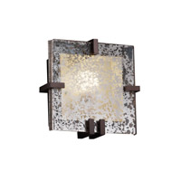Justice Design Fusion Clips Square Wall Sconce (ADA) in Dark Bronze FSN-5550-MROR-DBRZ