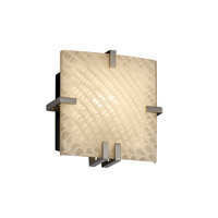 Justice Design Fusion Clips Square Wall Sconce (Ada) in Brushed Nickel FSN-5550-WEVE-NCKL